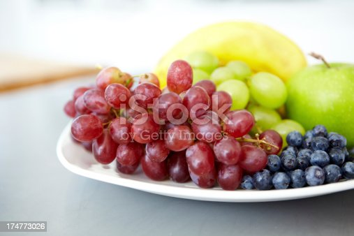A plate of delicious fresh fruit