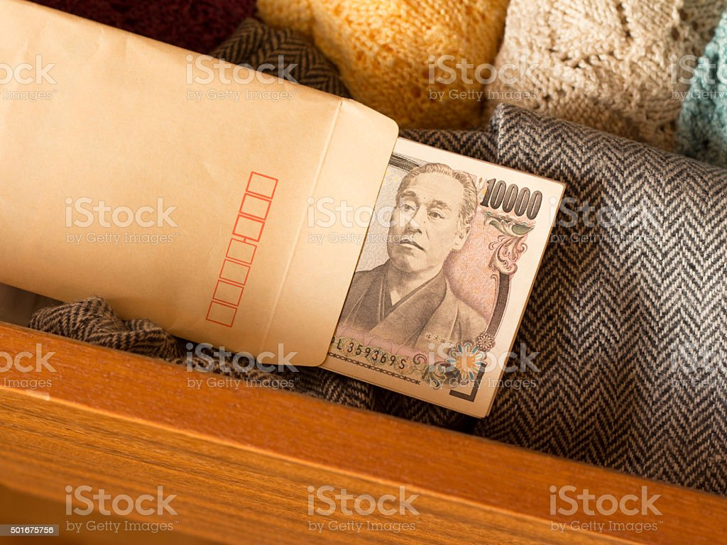 Keeping money in the drawer to avoid tax stock photo