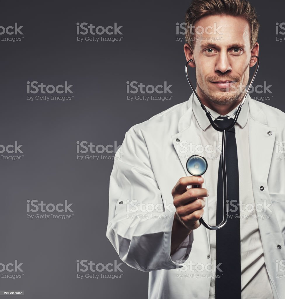 Keeping people healthy through examinations royalty-free stock photo
