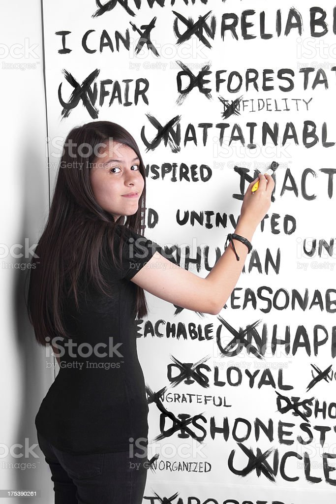 Keeping Positive stock photo
