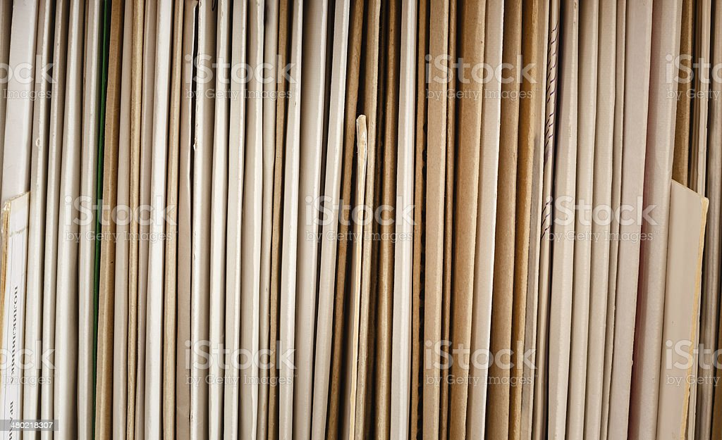 Keeping Records royalty-free stock photo