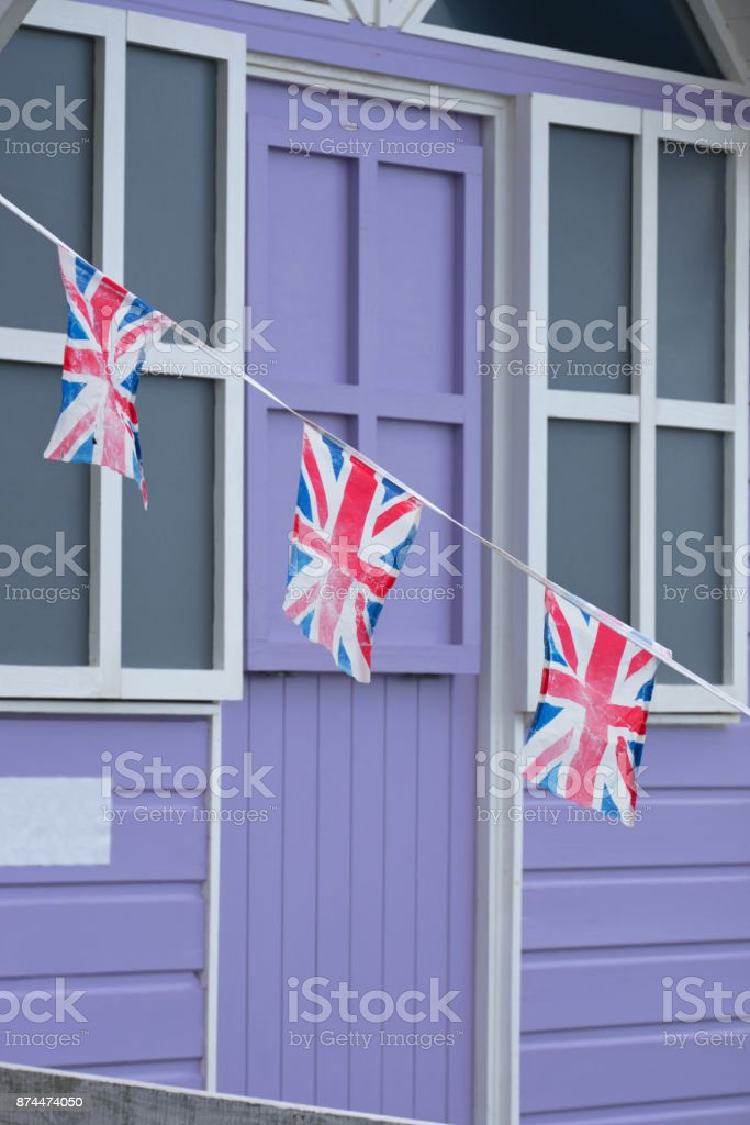 Keeping the flags flying stock photo