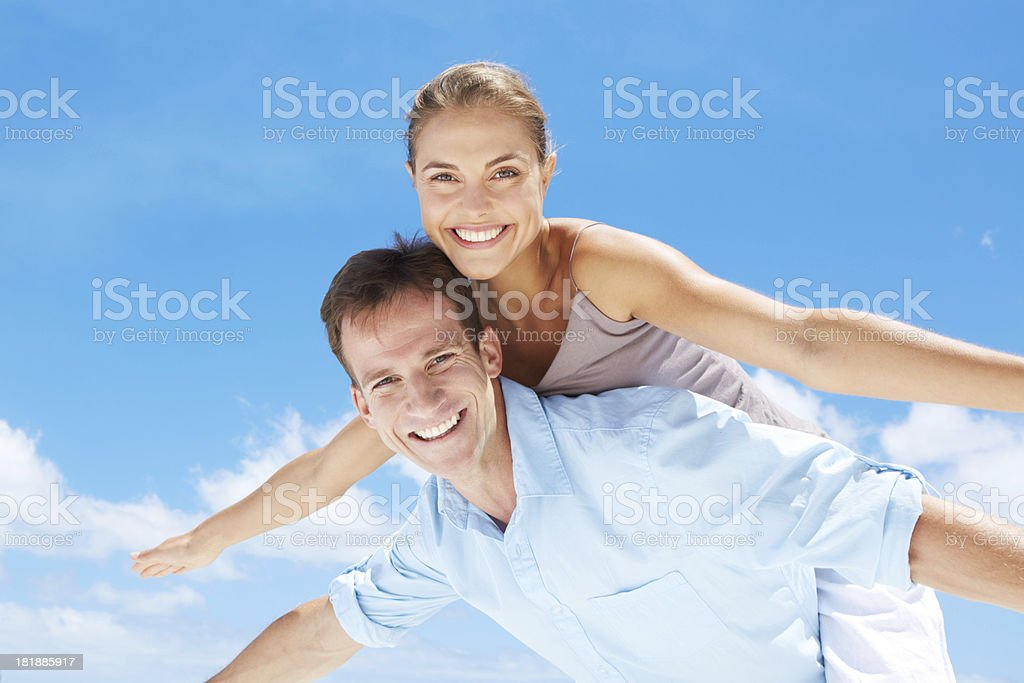 Keeping their relationship fresh and fun royalty-free stock photo