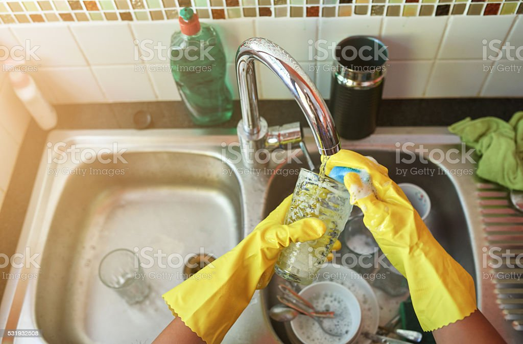 Keeping things clean stock photo