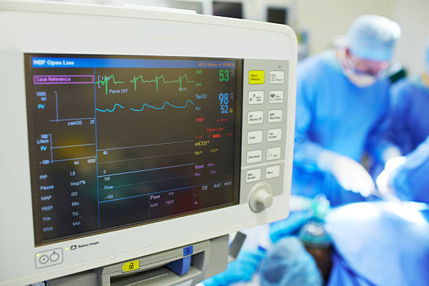 Keeping track of the patient's vitals stock photo