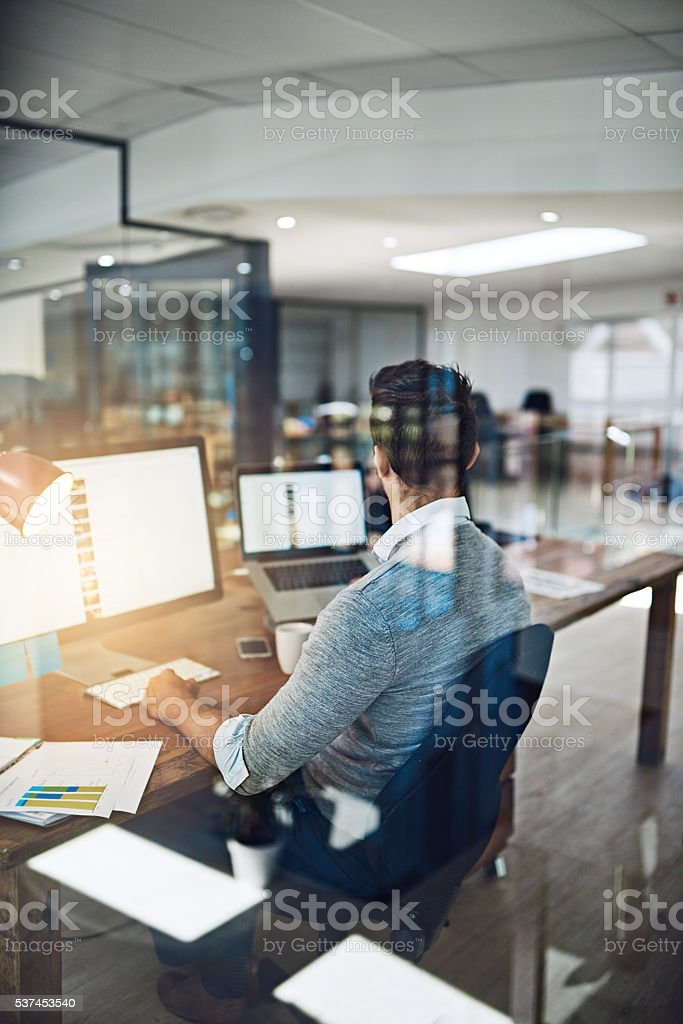 Keeping up to date with emerging technologies stock photo