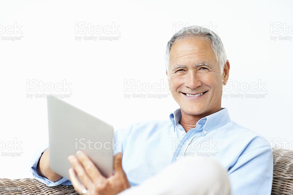Keeping up to date with the new tech royalty-free stock photo