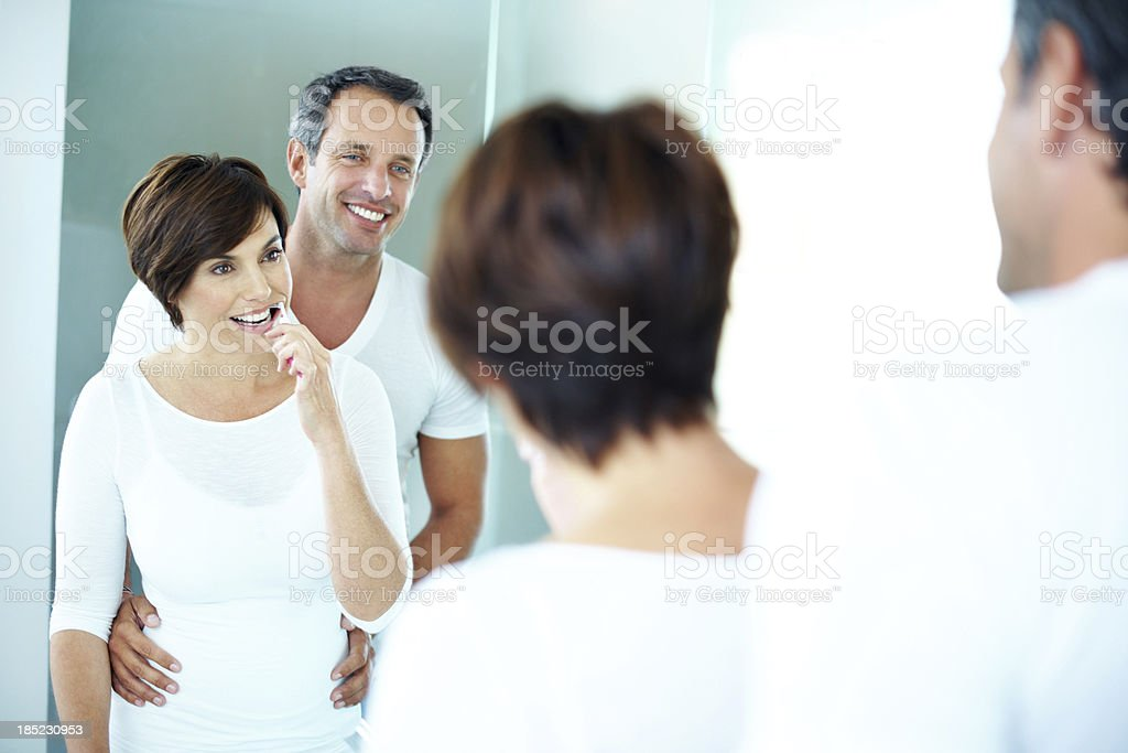 Keeping up with great morning habits royalty-free stock photo