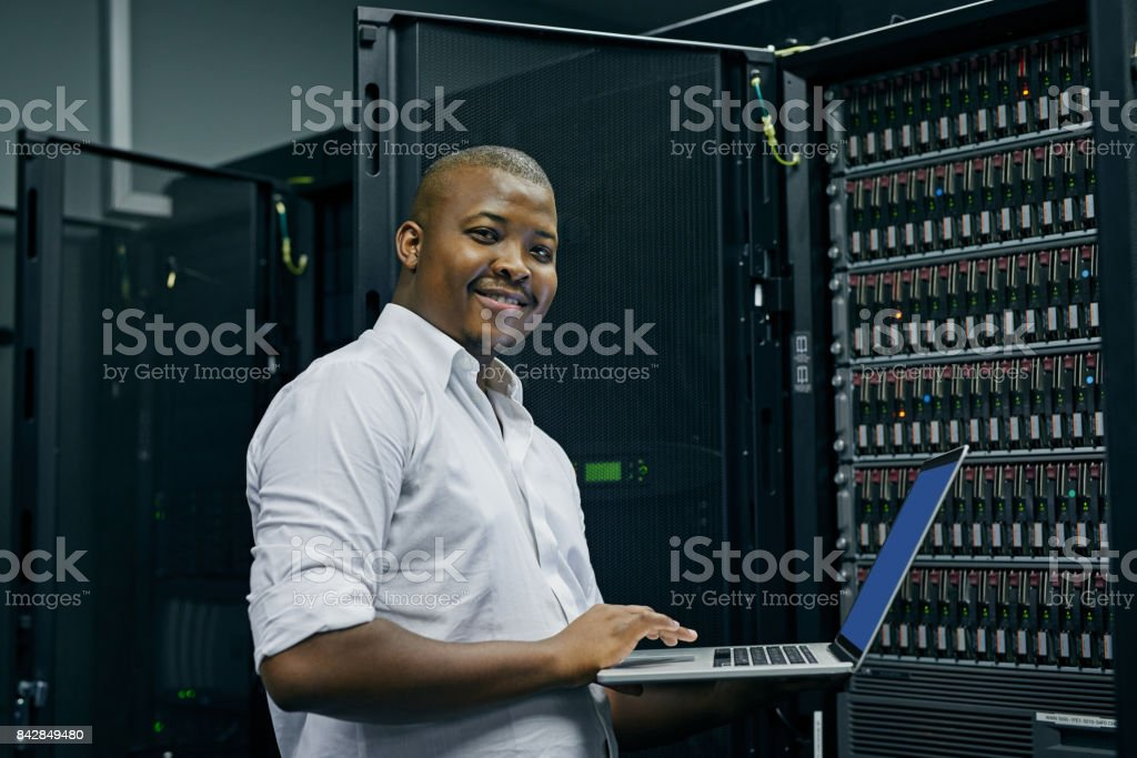 Keeping your computer systems up to date stock photo