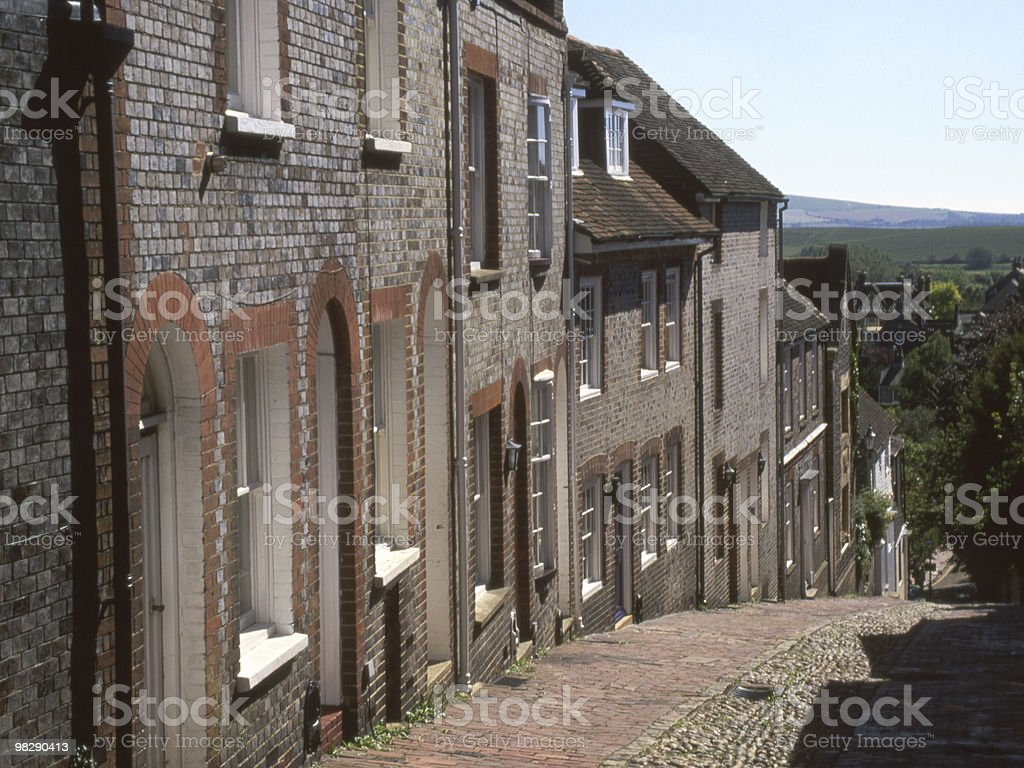 Keere Street. Lewes. East Sussex. England royalty-free stock photo