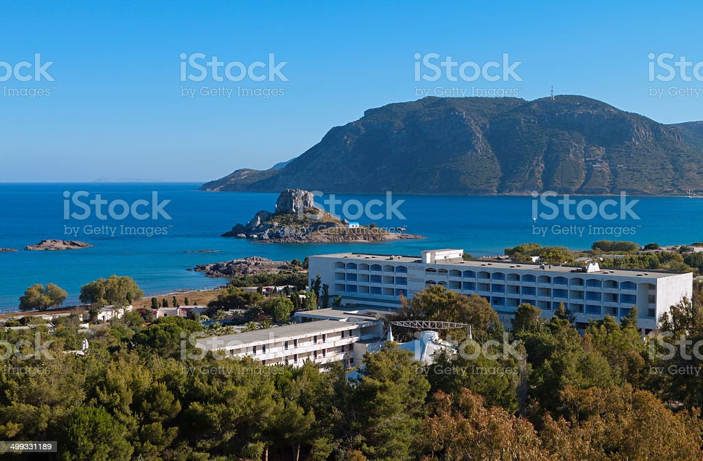 Kefalos coast at Kos island in Greece stock photo
