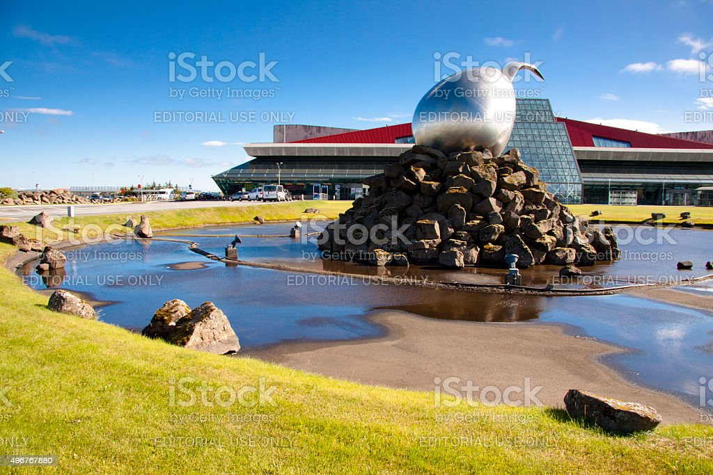 Keflavik airport - Iceland stock photo