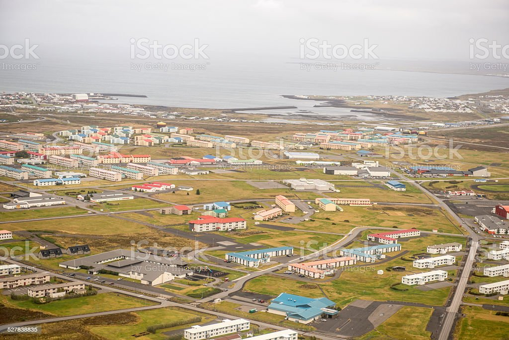Keflavik from the air stock photo