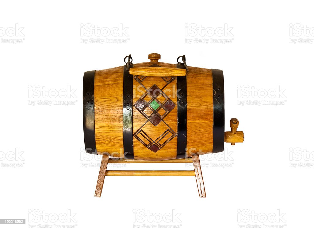 Keg for wine royalty-free stock photo