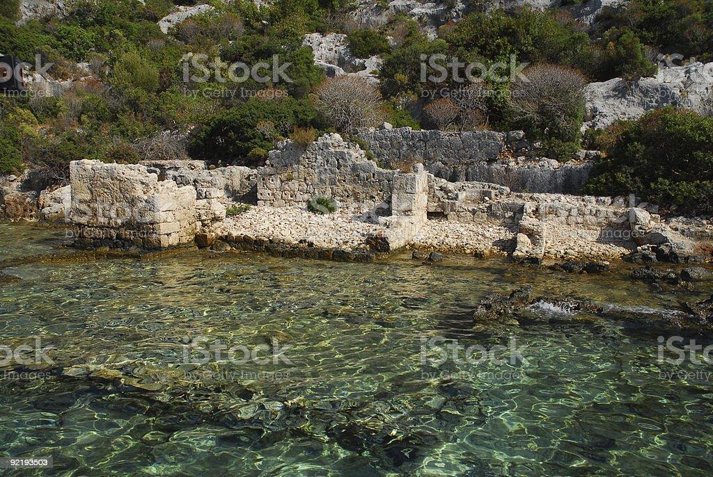 Kekova Adasi - Under Water City stok fotoğrafı
