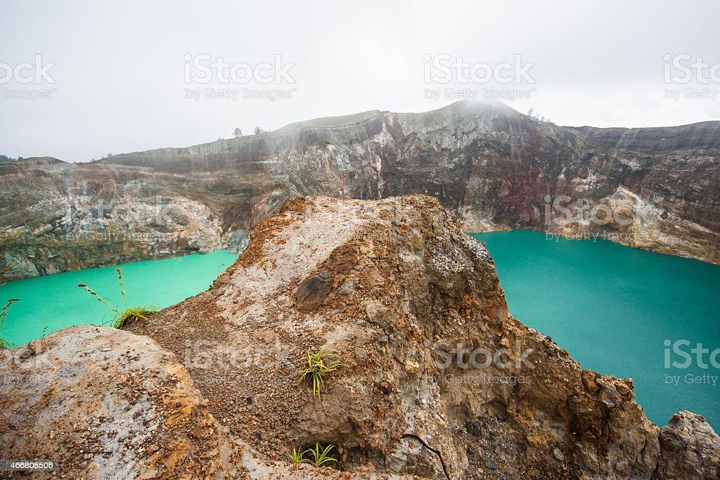 Kelimutu volcano, Indonesia stock photo