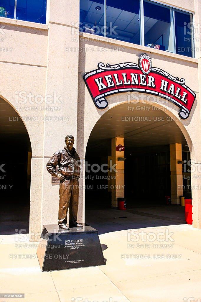 Kellner Hall at Camp Randall UW football stadium Madison WI stock photo