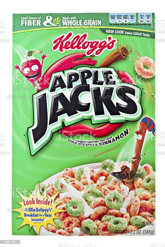 Kellogg's Apple Jacks stock photo