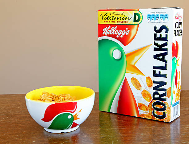 Kellogg's cornflakes breakfast stock photo