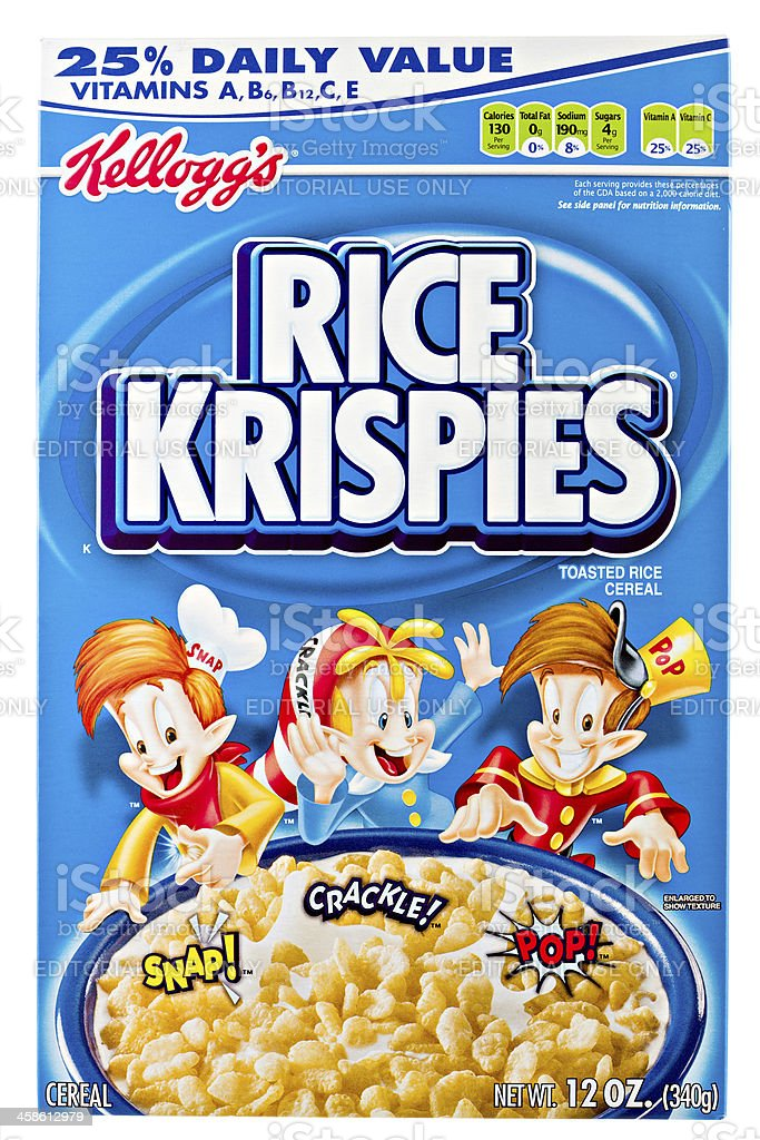 Kellogg's Rice Krispies. stock photo