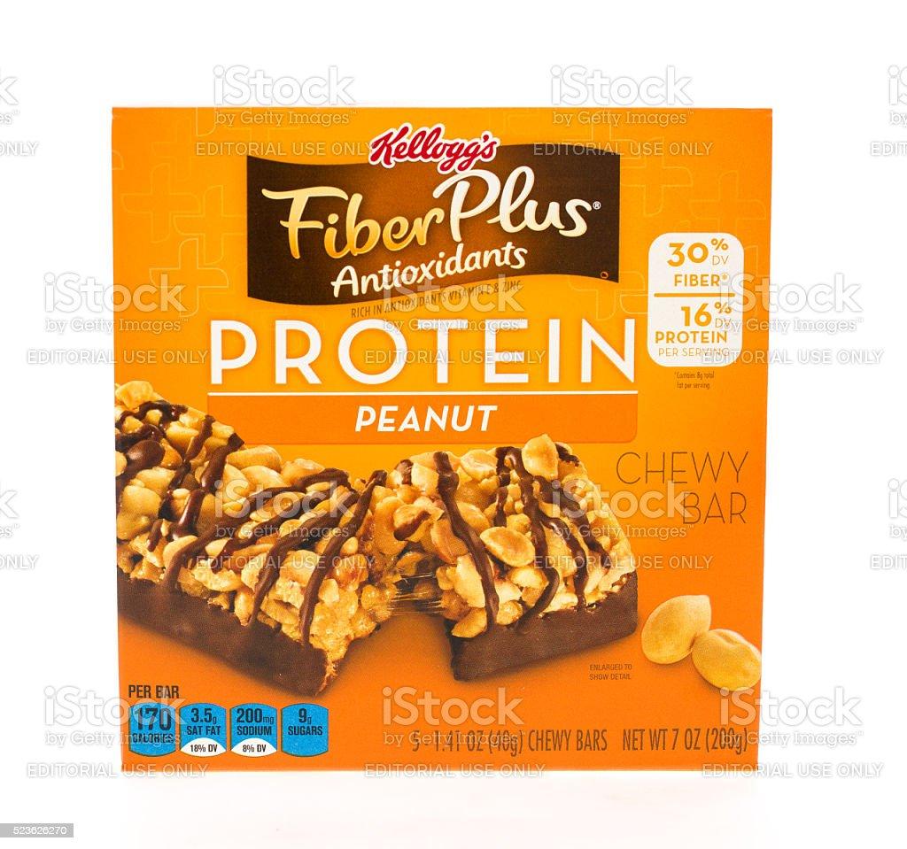 Kellog's Fiber Plus Protein stock photo