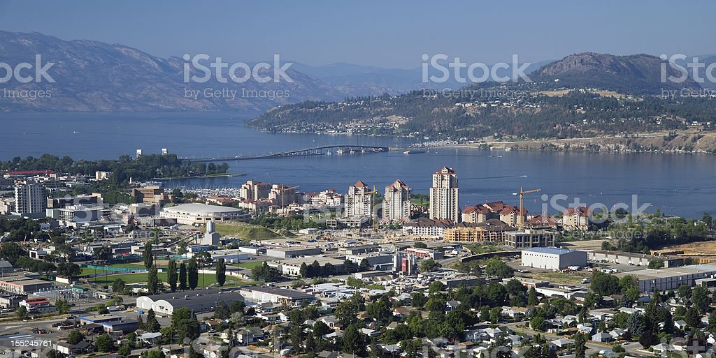 Kelowna and Okanagan Lake stock photo
