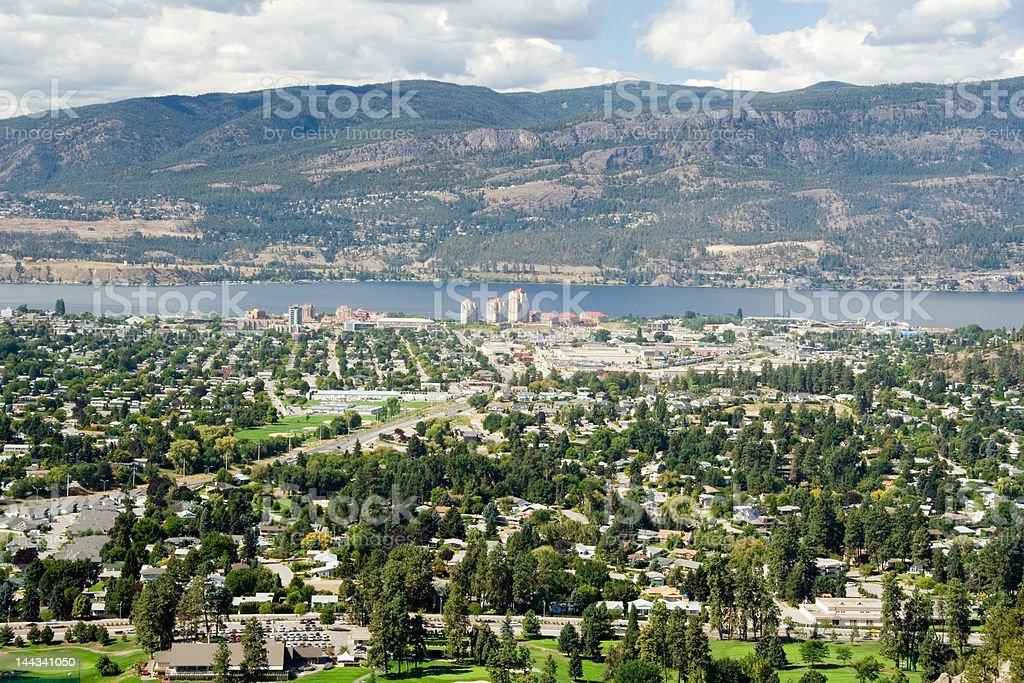 Kelowna, BC (aerial view) royalty-free stock photo