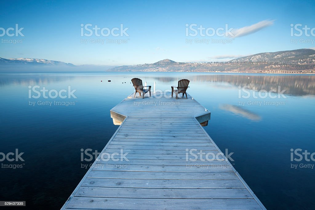 Kelowna British Columbia stock photo