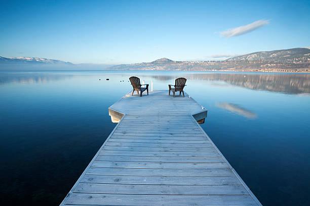 Kelowna British Columbia stock photo