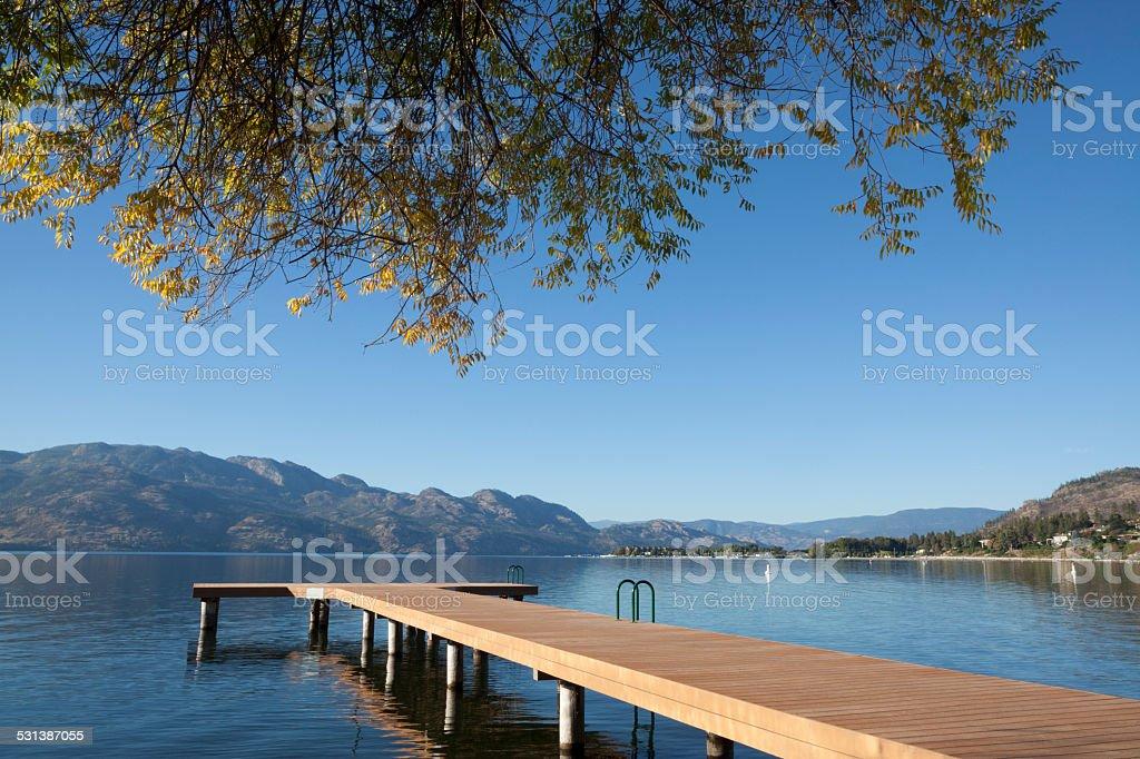 Kelowna Okanagan Lake british Columbia stock photo