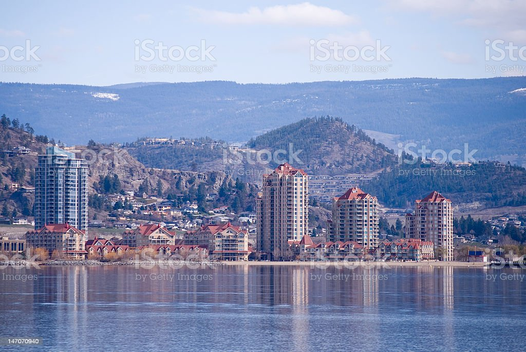 Kelowna's Skyline royalty-free stock photo