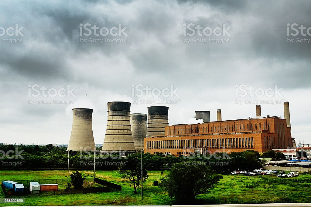 Kelvin Power Station, east of Johannesburg, South Africa stock photo