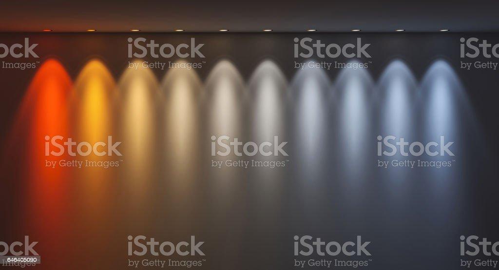 kelvin temperature colours stock photo