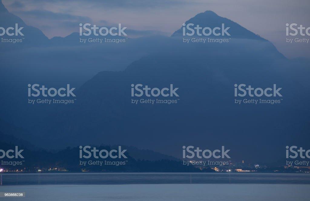 Kemer, Antalya, mountains landscape silhouette at the evening - Royalty-free Antalya Province Stock Photo