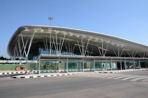 Kempegowda International Airport BENGALURU, INDIA - FEBRUARY 13, 2017: Terminal building of Kempegowda International Airport which is an international airport serving Bengaluru, the capital of the Indian state of Karnataka. bangalore stock pictures, royalty-free photos & images