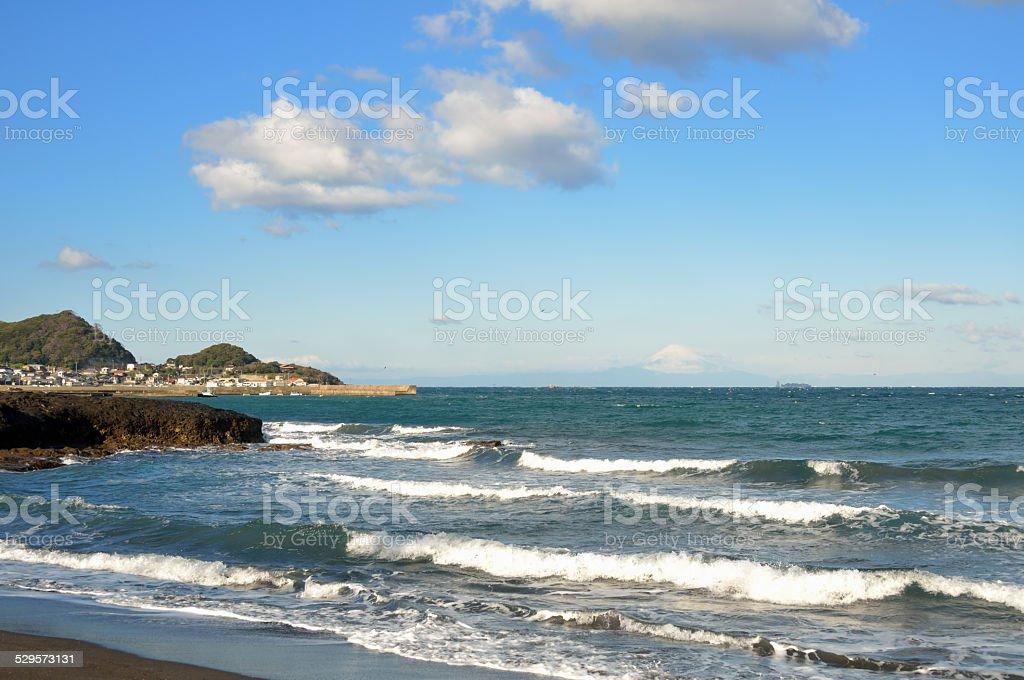 Kenbutsu beach in Chiba, Japan (XXXLarge) stock photo