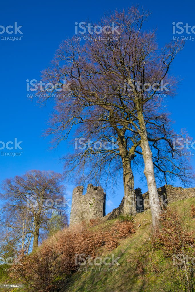 Kendal Castle in Cumbria, UK stock photo