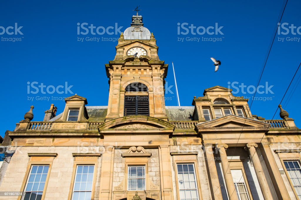Kendal Town Hall in Kendal, Lake District, UK stock photo