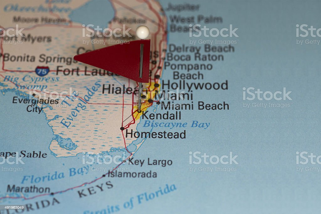 Kendall, FL, USA - Cities on Map Series stock photo
