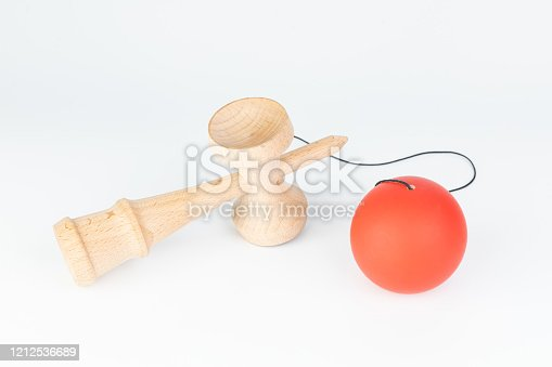 Kendama(Cup-and-ball Toy) is a traditional japanese wood toy