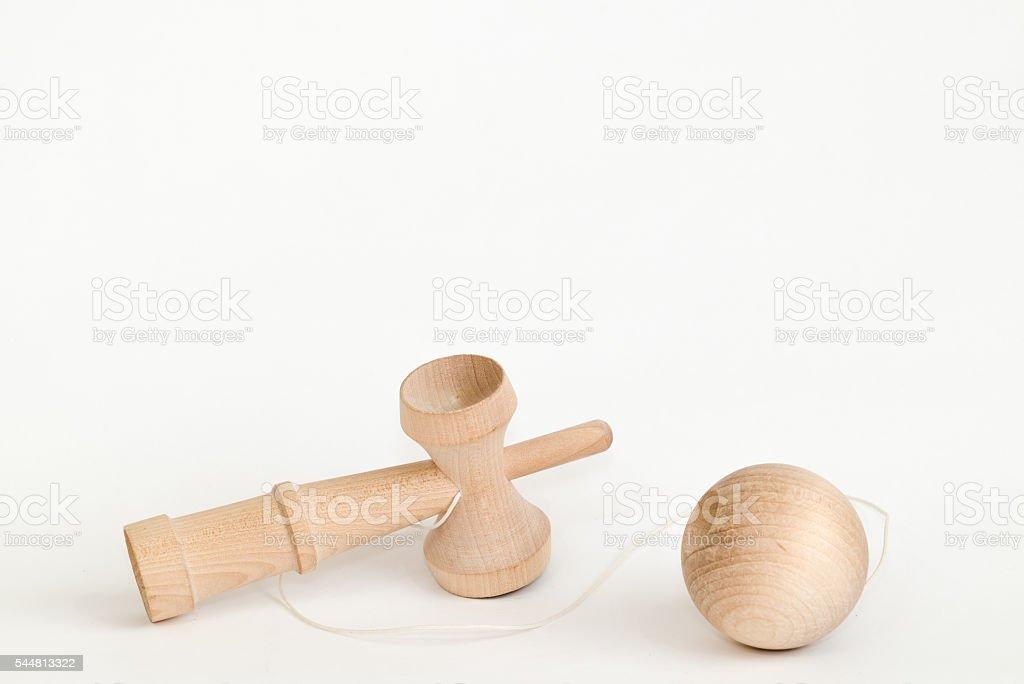 Kendama, traditional Japanese toy stock photo