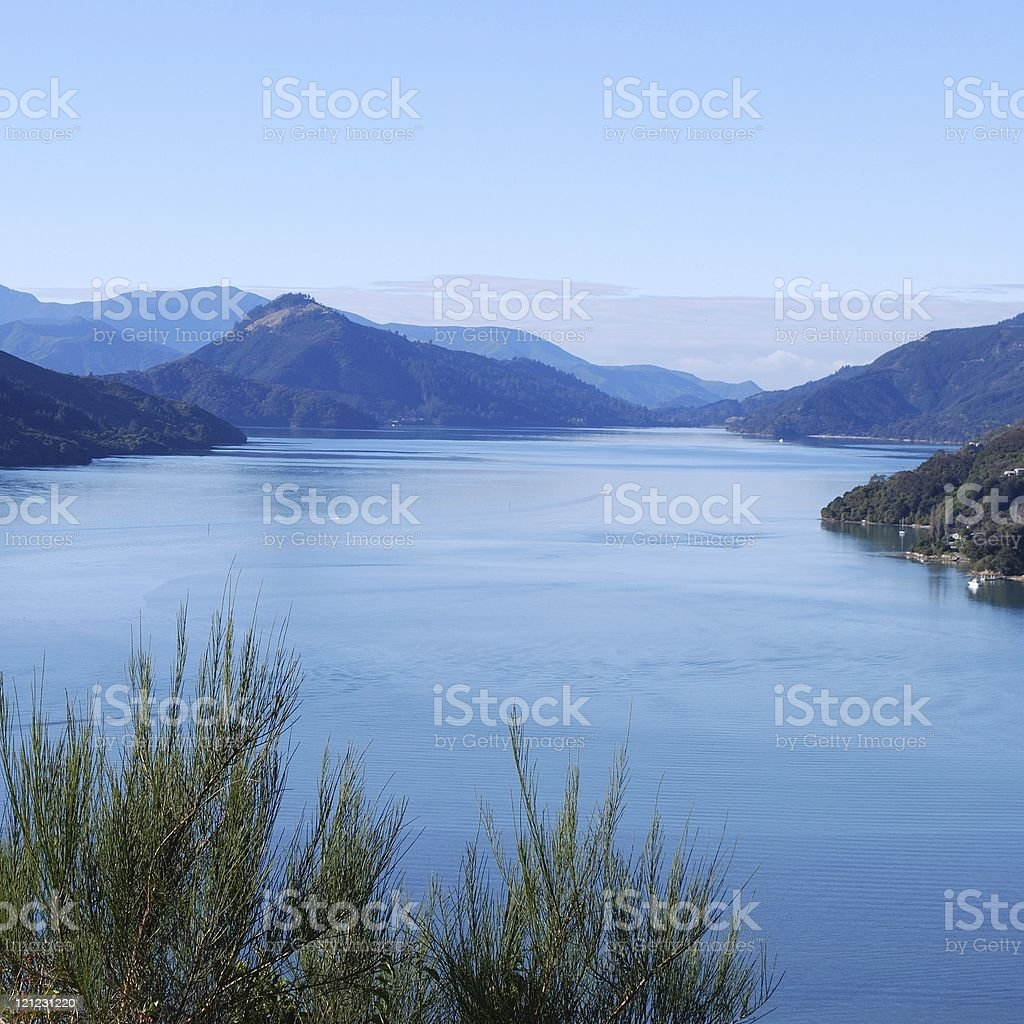 Kenepuru Sound, Marlborough Sounds, NZ royalty-free stock photo