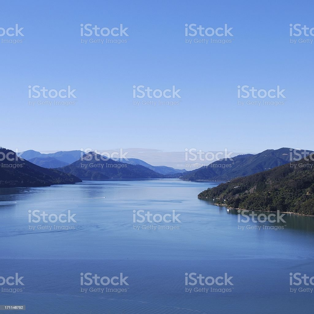 Kenepuru Sound, Marlborough Sounds, NZ royalty-free stock photo