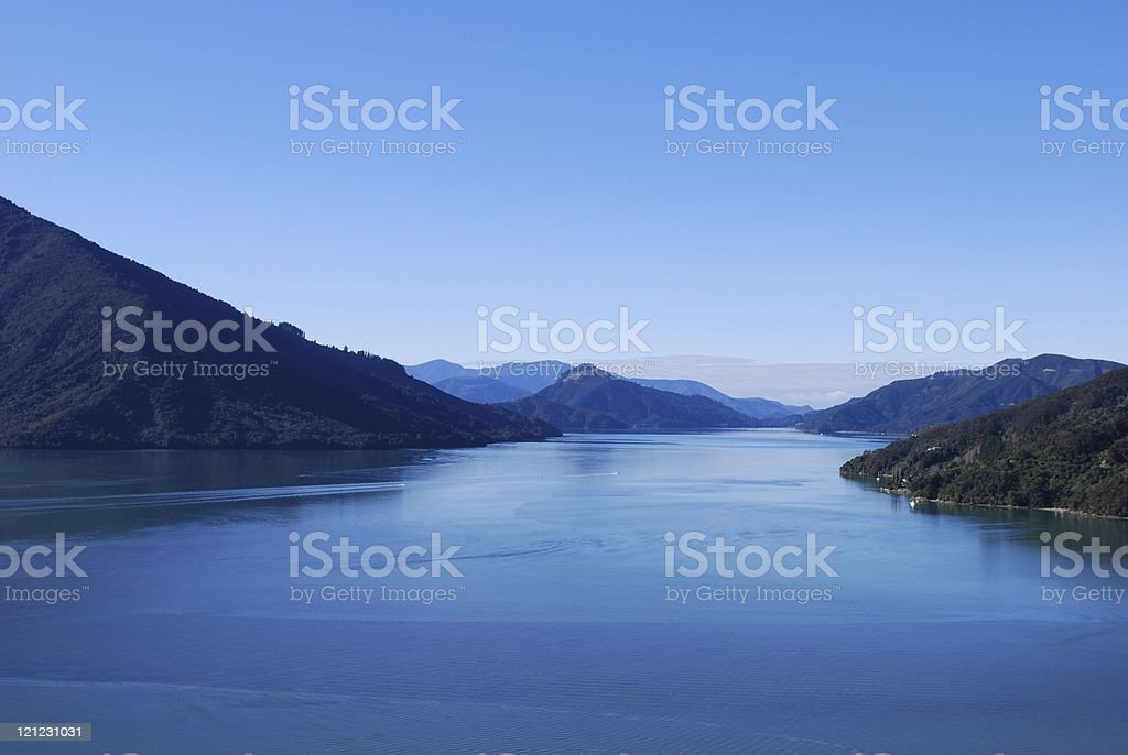 Kenepuru Sound, Marlborough Sounds stock photo