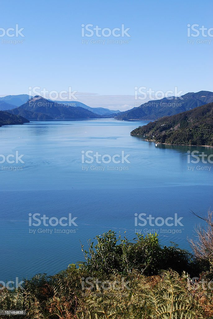 Kenepuru Sound, Marlborough Sounds royalty-free stock photo