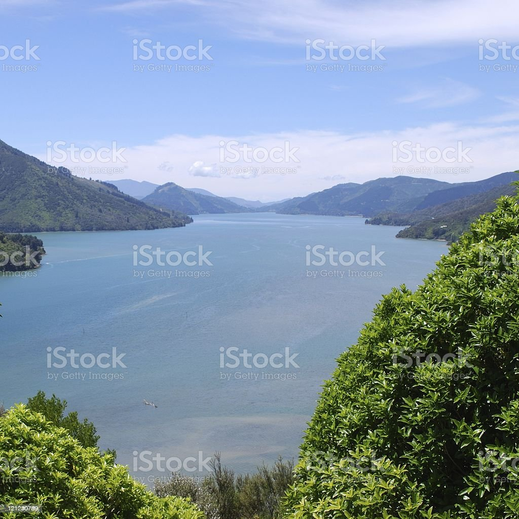 Kenepuru Sound stock photo