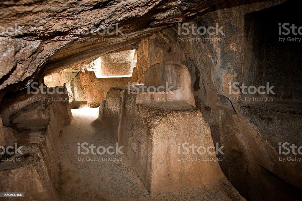 Kenko Cave Temple near Cuzco in Peru stock photo