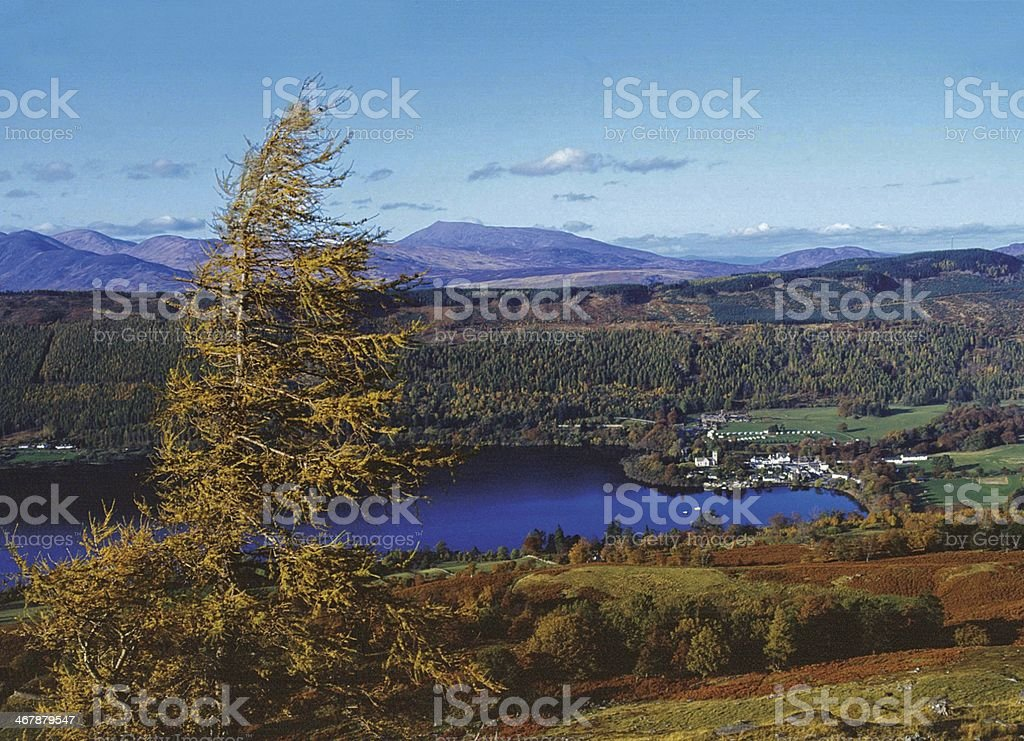 Kenmore Village & Schiehallion above Loch Tay stock photo