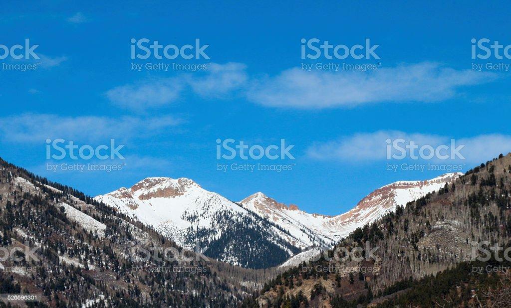 Kennebec Pass near Durango, CO under blue sky stock photo