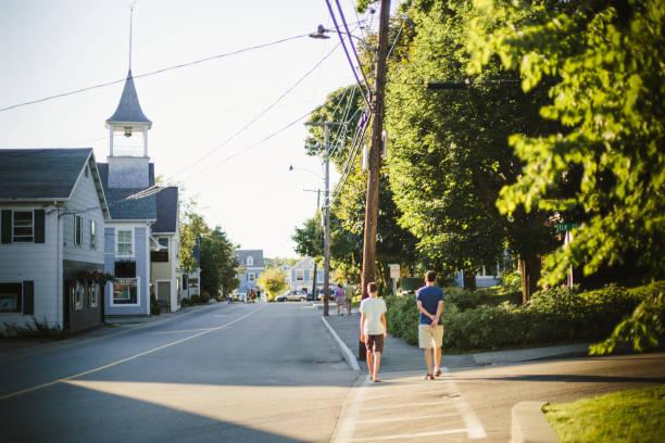 Kennebunk city, Maine, United State stock photo